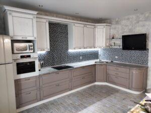 Фото Кухня массив ясень с патиной